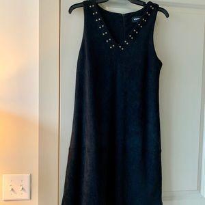 Suede shift dress